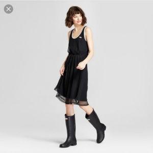 NWOT! Black Mesh A-line Tank Dress